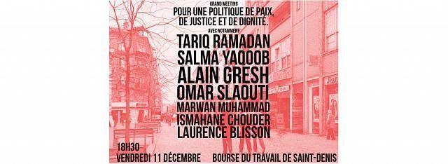 « Grand meeting pour une politique de paix, de justice et de dignité »