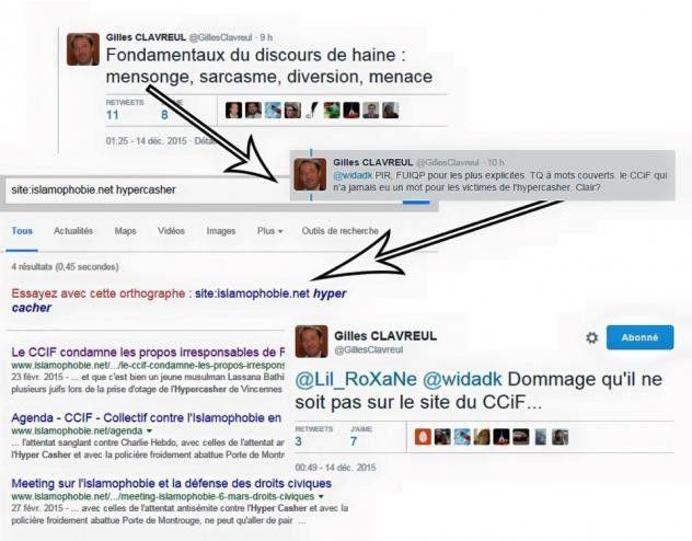 Gilles Clavreul, de la hiérarchisation des racismes à la diffamation. (CCIF)