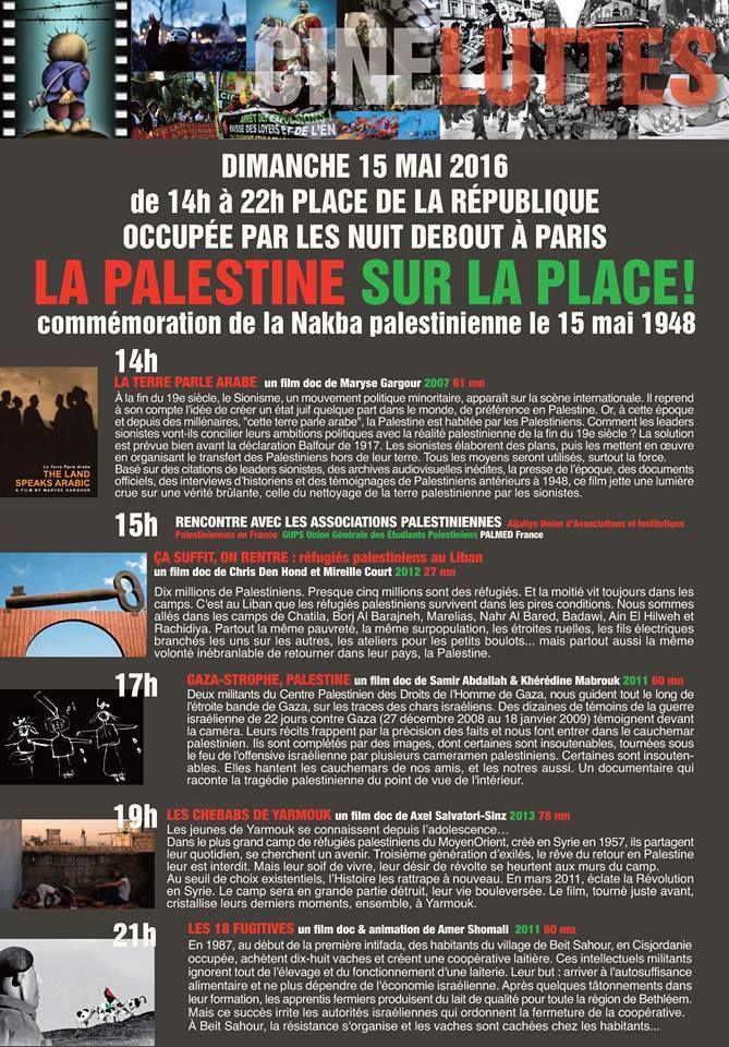 La Palestine sur la Place