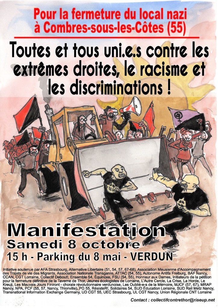 Rassemblement contre l'extrême-droite à Verdun le 8 octobre 2016