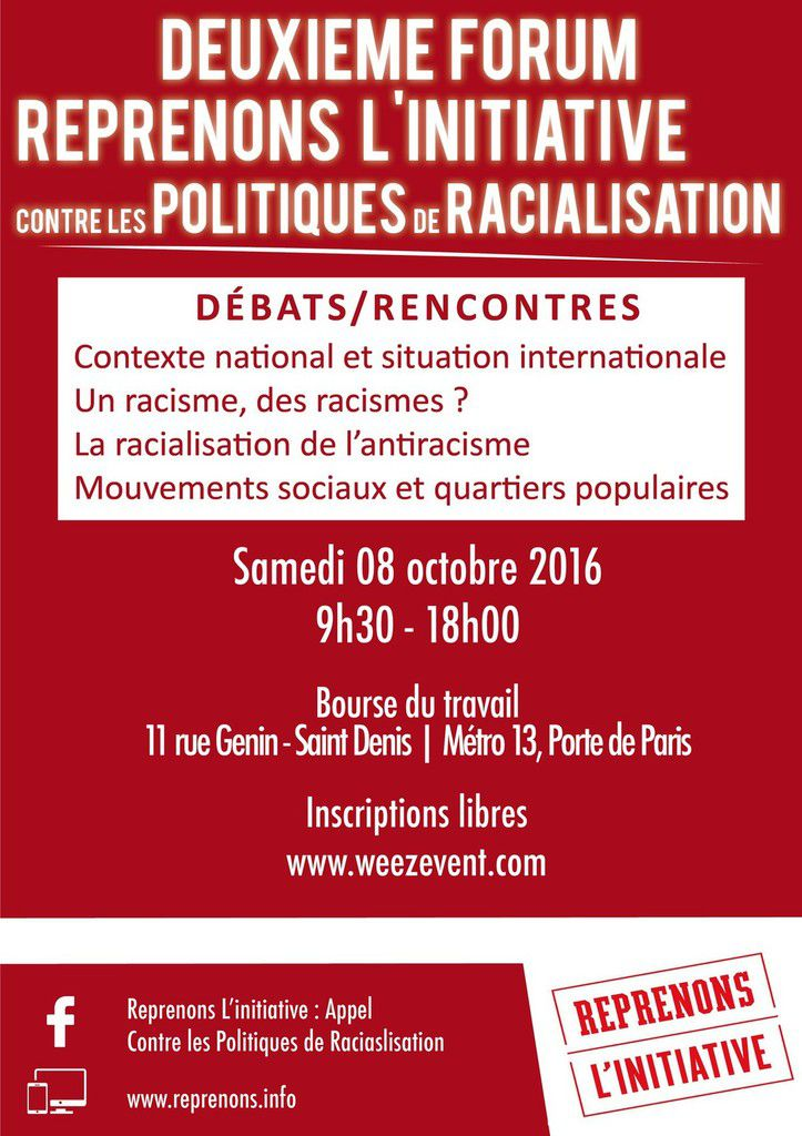 Reprenons l'initiative : forum 2016 (3/6)
