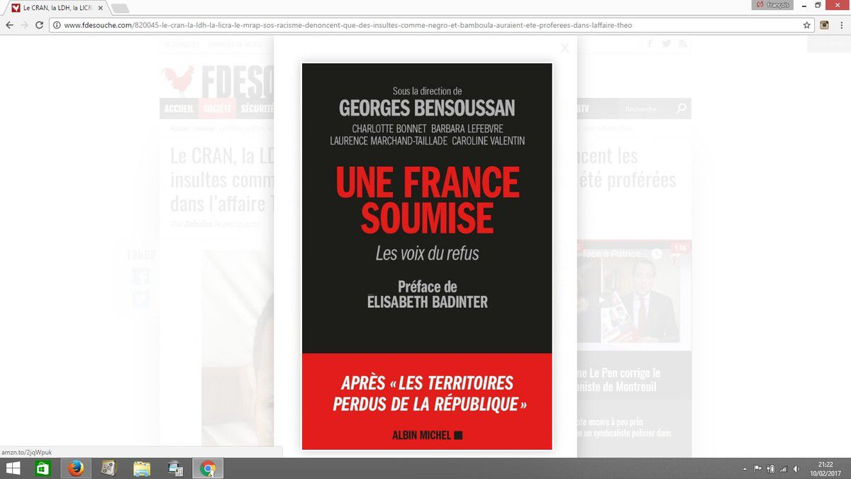 Albin Michel, Georges Bensoussan et Elisabeth Badinter s'affichent chez Fdesouche