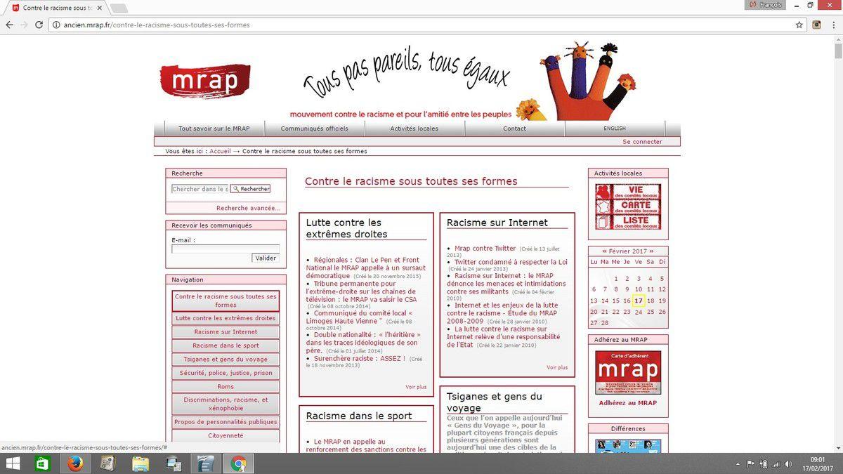 Présentation sur l'ancien site du MRAP, encore en ligne.
