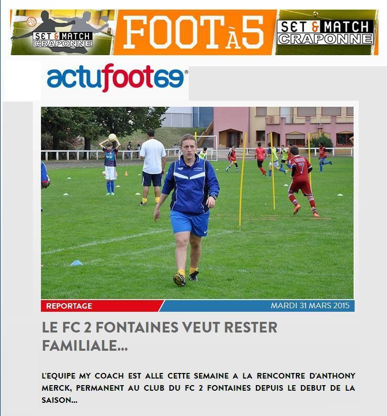 LE FC DEUX FONTAINES VEUT RESTER FAMILIALE...
