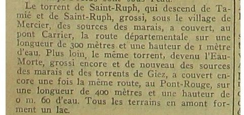 Le torrent de Saint-Ruph devenu l'Eau morte
