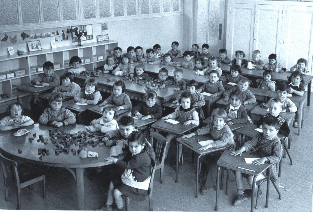 Classe maternelle de 1955