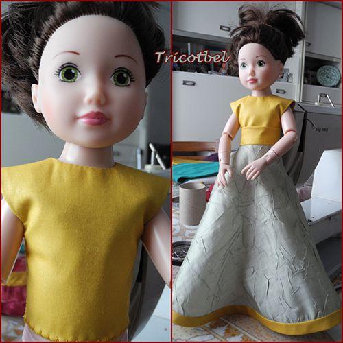 Défi fleurs - poupée Jolina