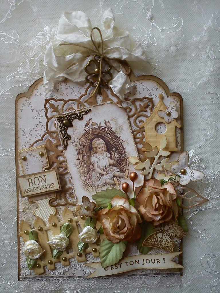 dies Joy Craft, Marianne Design et Magnolia, tampons Stampin'up et Aladine, perfo Nellie Snellen
