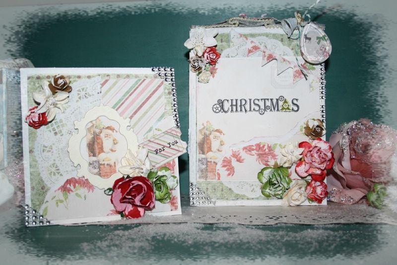 une magnifique carte et un somptueux mini album réalisés avec ces superbes papiers digitaux