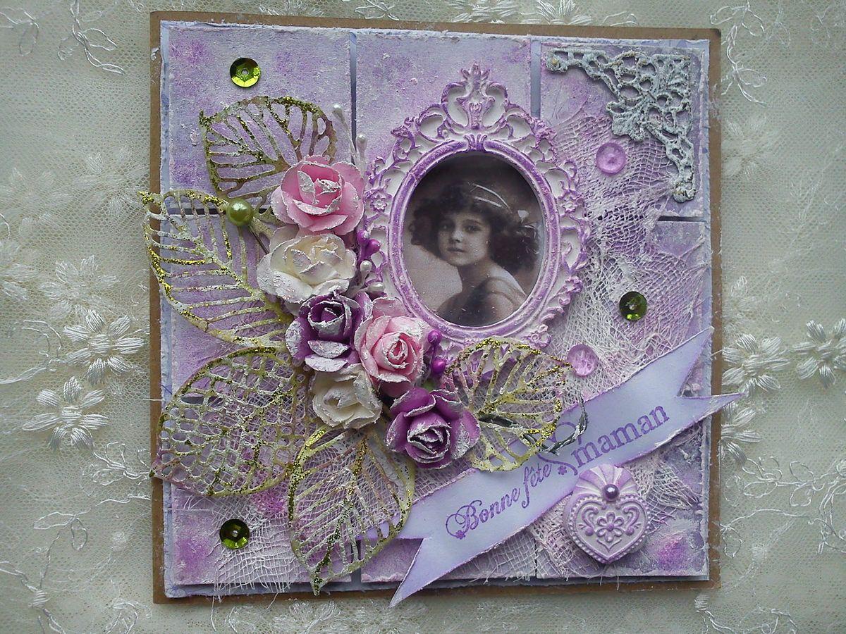 Cartes patchwork pour la fêtes des mères.