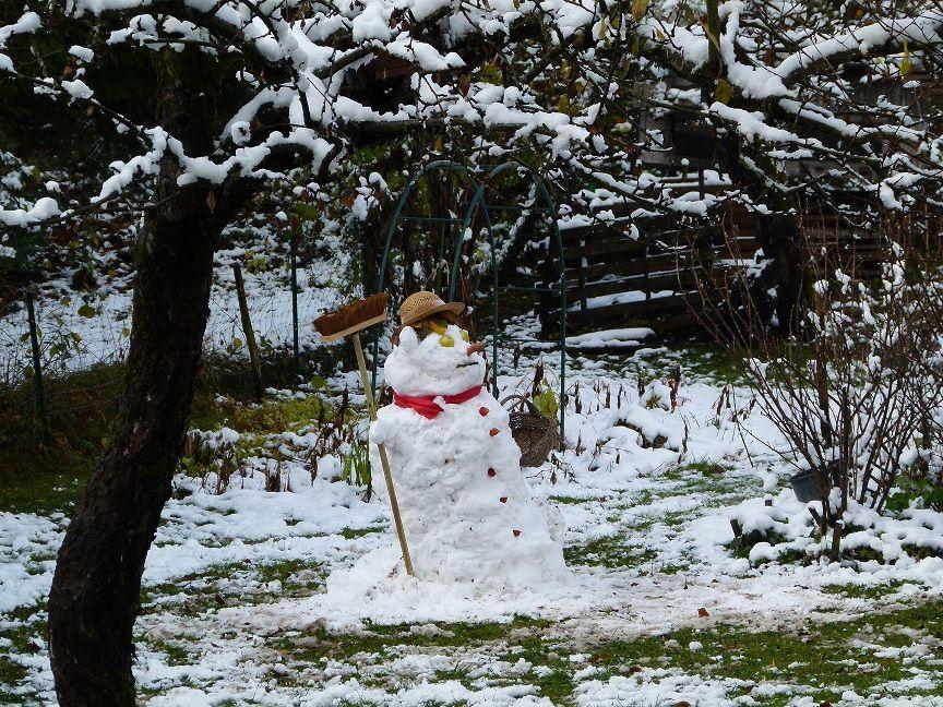 Le 22 novembre, petite chute de neige en plaine.