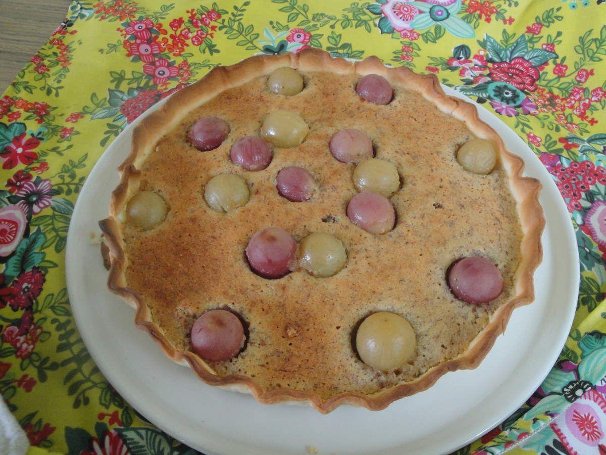 Les raisins ont un peu bougé à la cuisson... ils auraient pu être plus nombreux... ils le seront la prochaine fois !