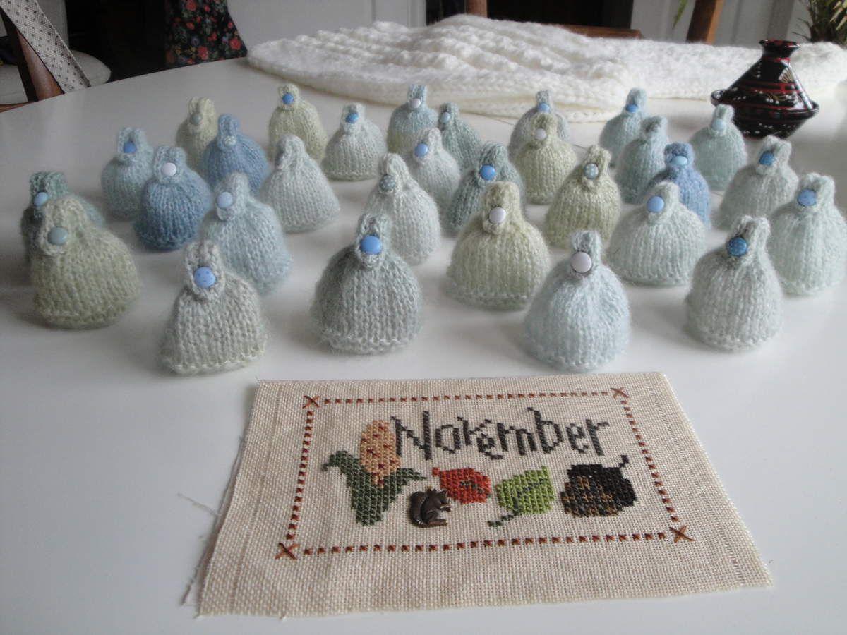 Les mini bonnets de Novembre.