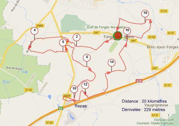 Parcours de la randonnée : sources GPS Patrick