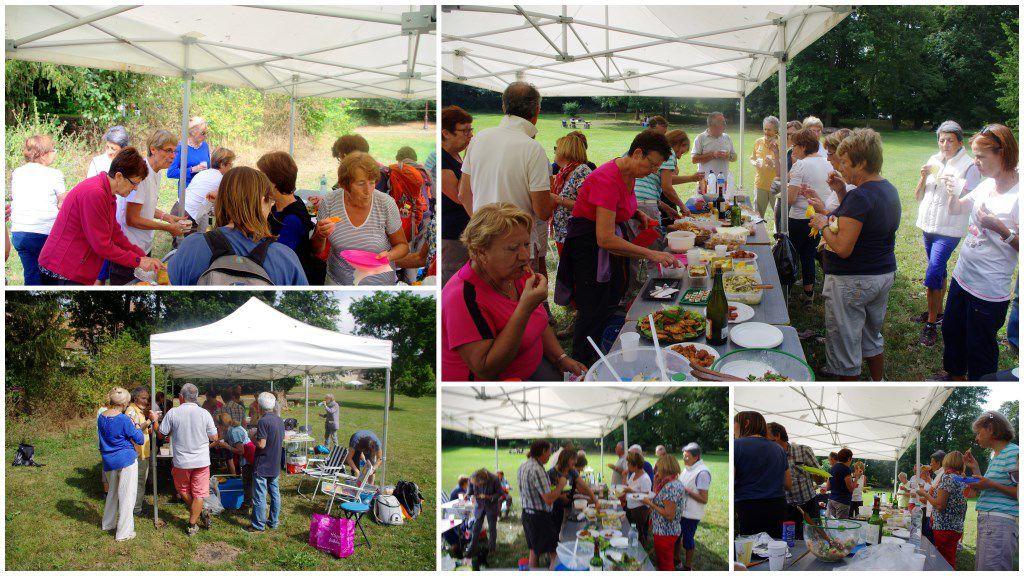 Le repas partagé à la Maison du Parc du Vexin à Théméricourt