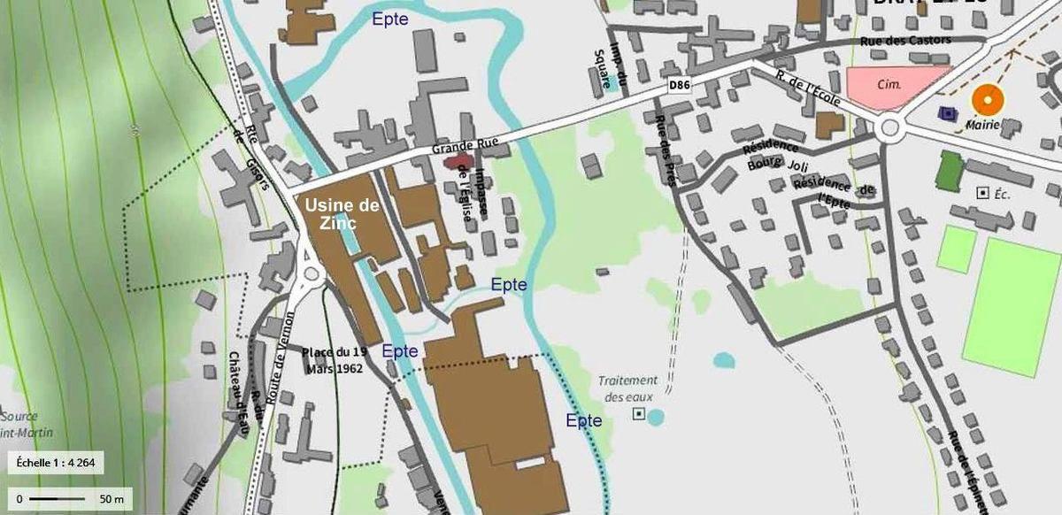 L'Epte  et ses canaux à Bray-et-Lû