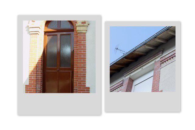 R novation porte d 39 entr e et lasure de dessous de toit for Hauteur porte entree