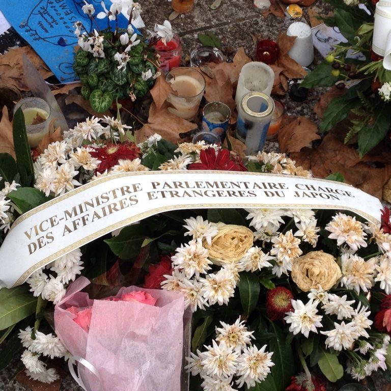 Hommage CHARLIE HEBDO bld Richard LENOIR 11eme