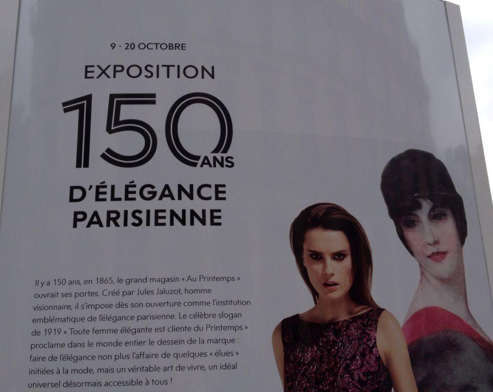 Expo Place Palais Royal : 150 ans du Printemps de 1865 à 1929 -1er arrond