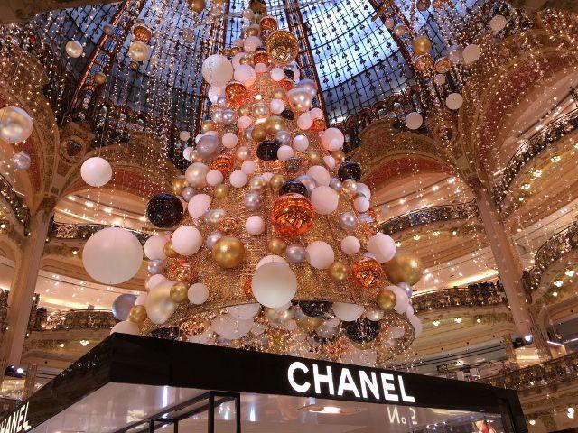 Galeries Lafayette sapin fin 2015