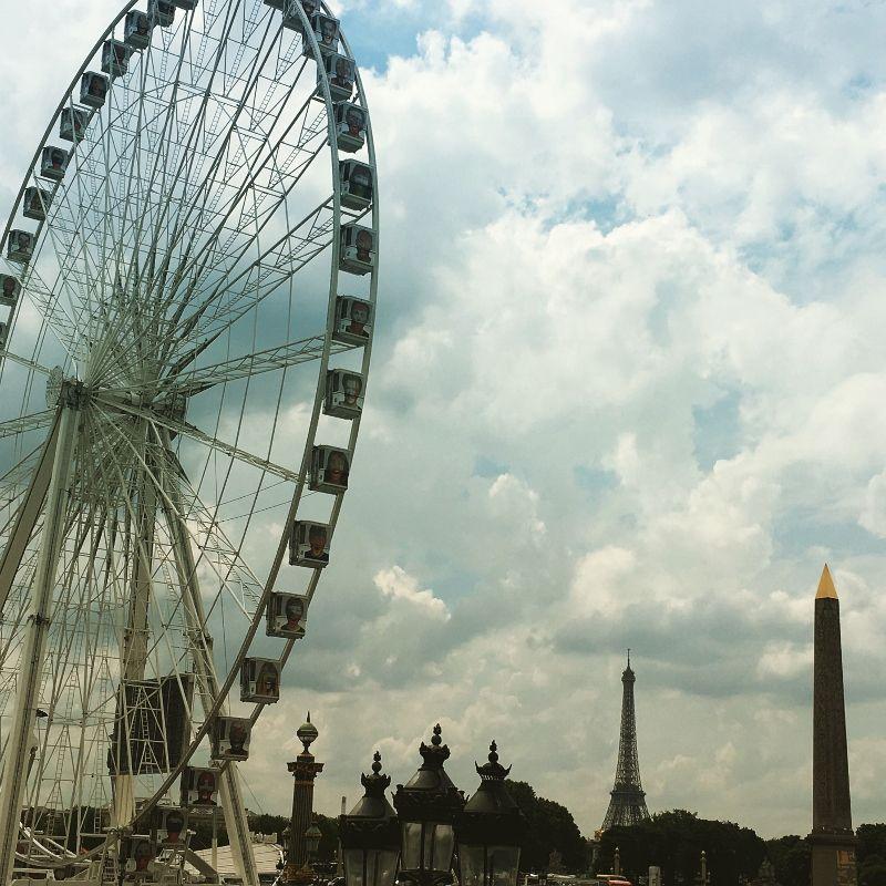 Tour Eiffel admirée des Tuileries