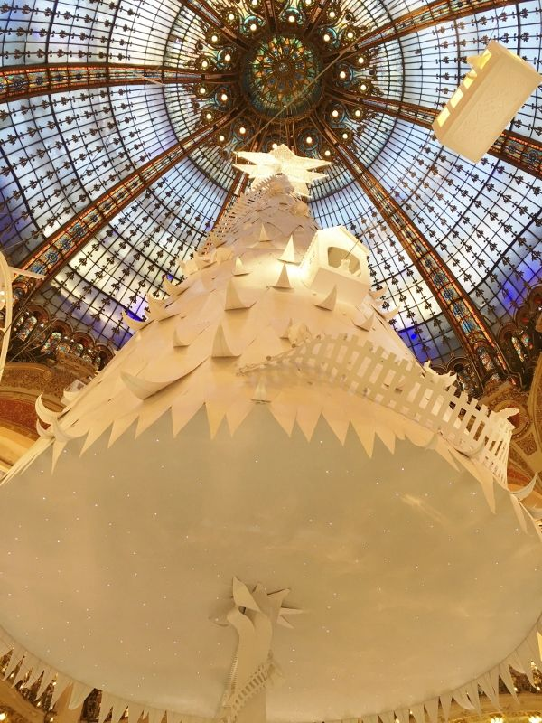 Galeries Lafayette Sapin polaire Noel 2016