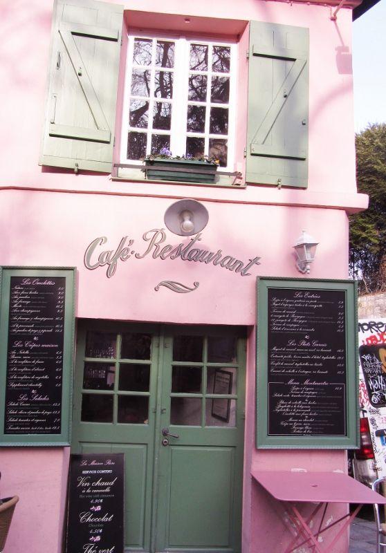 La maison rose rue de l'abreuvoir - 18eme