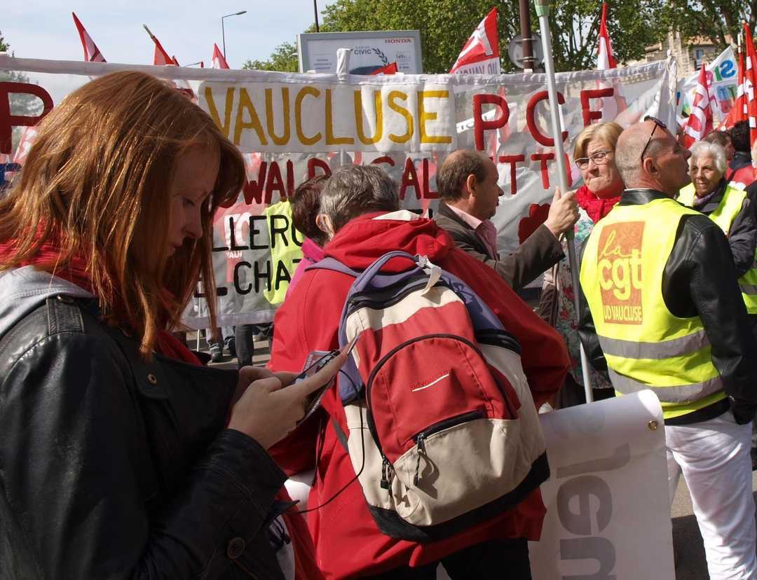 Journé d'action contre la loi El Khomri à Avignon