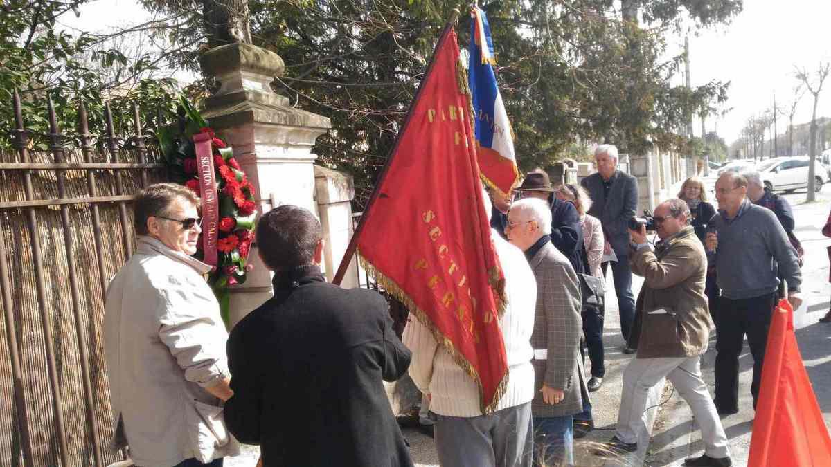 Rassemblement en hommage à Louis Lopez, résistant communiste assassiné le 16 mars 1944 à L'Isle-sur-la-Sorgue.