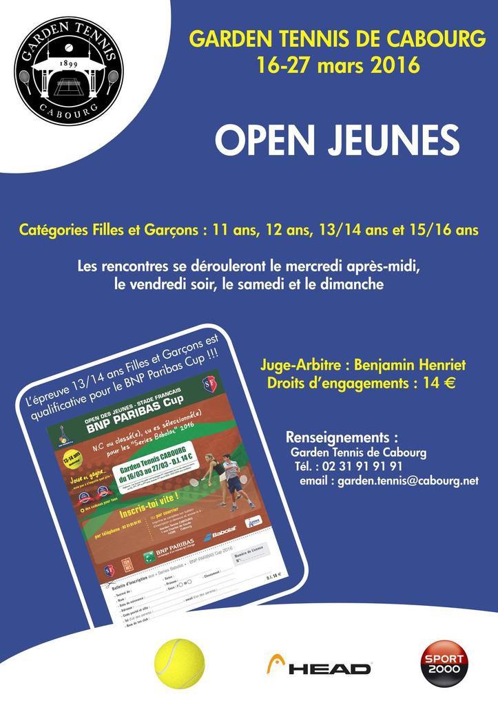 OPEN JEUNES - BNP PARIBAS Cup