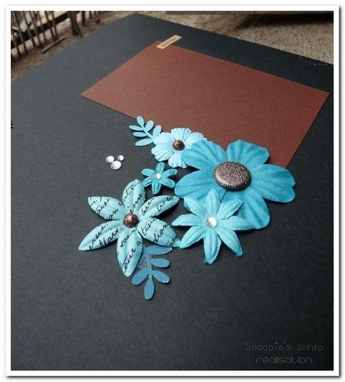 Livre d'or Laeti &amp&#x3B; Steph - Exotique - turquoise &amp&#x3B; chocolat