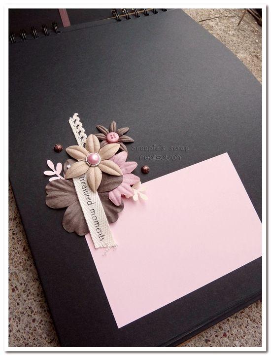 livre d'or Gabriela &amp&#x3B; Jérôme - Romantique &amp&#x3B; vintage - Rose, chocolat &amp&#x3B; ivoire
