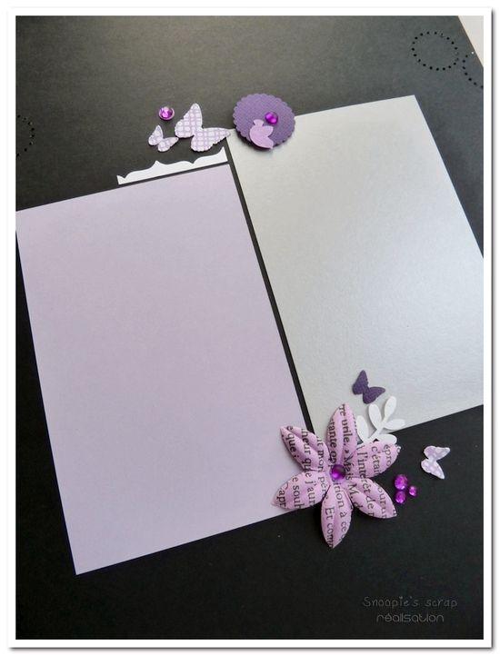 Livre d'or Cécile &amp&#x3B; Anousith - parme, violet, argent &amp&#x3B; blanc