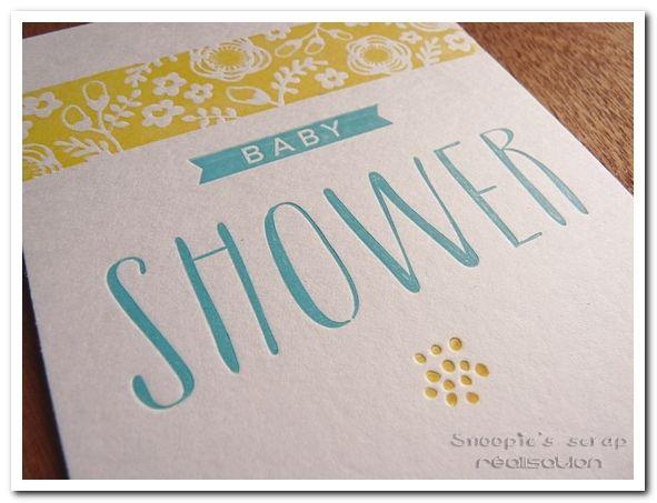 Carte Baby shower - fête naissance/grossesse - Letterpress