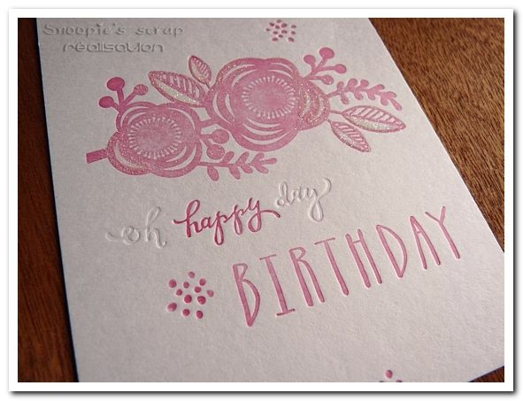 Carte Happy bithday - Letterpress