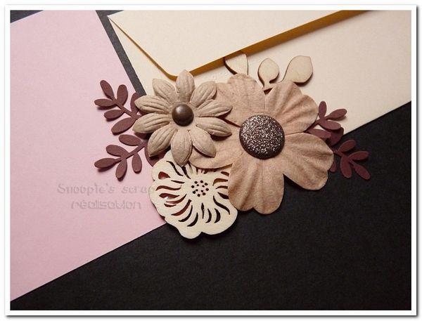 Livre d'or Aurélie &amp&#x3B; Christophe - champêtre, nature - rose, ivoire &amp&#x3B; chocolat marron