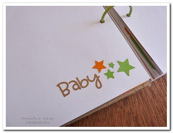 Livre d'or de baptême d'Hugo - Orange, vert &amp&#x3B; quelques touches neutres - Tigrou
