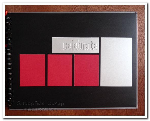 Livre d'or Justine &amp&#x3B; Cédric - mots d'amour - gris &amp&#x3B; rouge