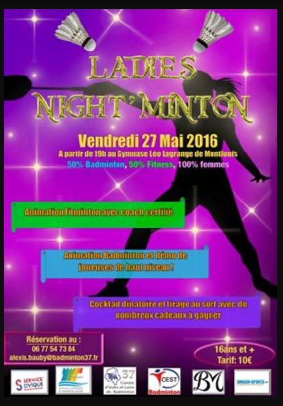 Ladies Night'Minton 27/05