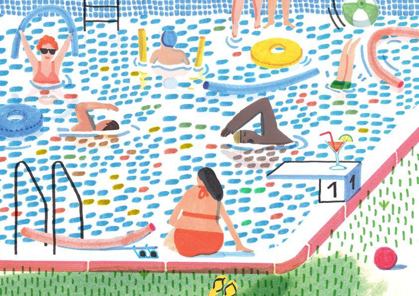 La piscine par charline picard le blog de l 39 illustre for Cheb hichem 2015 la piscine