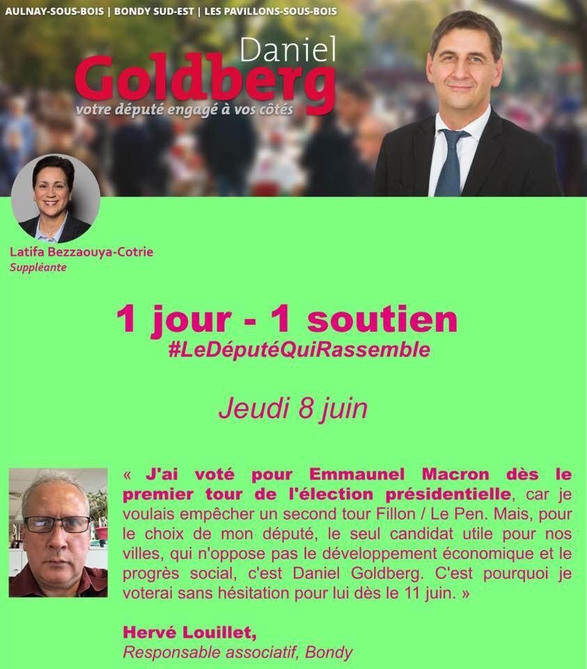 Vous aussi dès le 11 juin, votez pour Daniel Goldberg (16)