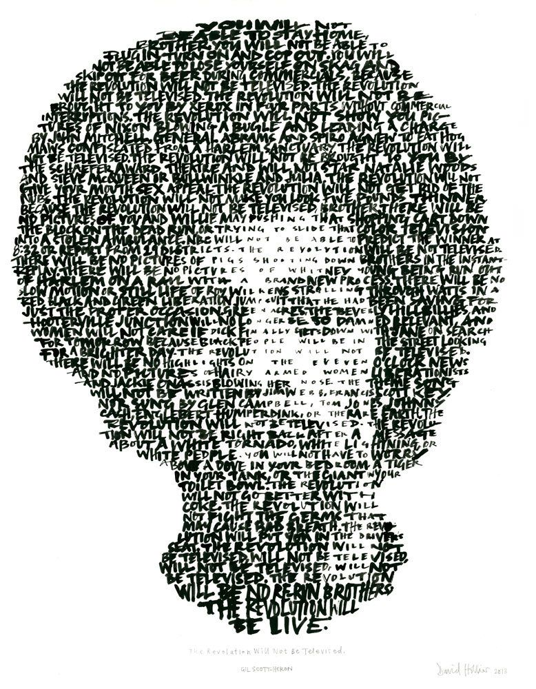One track a day: REVOLUTION WILL NOT BE TELEVISED by Gil Scott Heron