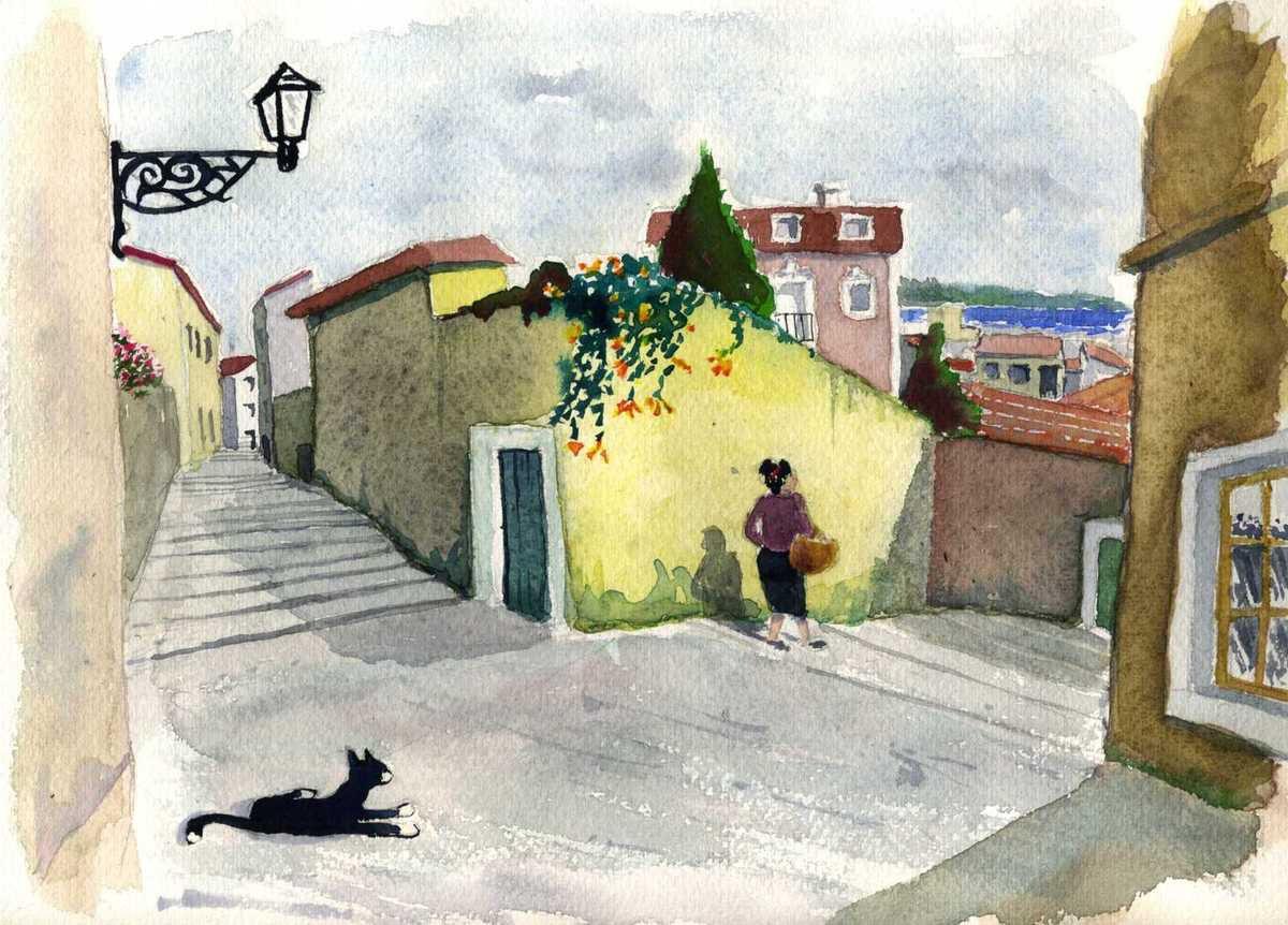 Lisbonne: Le quartier  populaire d'Alfama