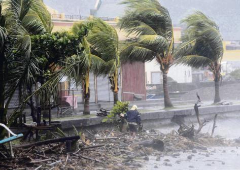 Typhon à Manille en 2014. Le réchauffement, « ce n'est pas une menace future, beaucoup en paient déjà le prix ». Romeo Ranoco/Reuters