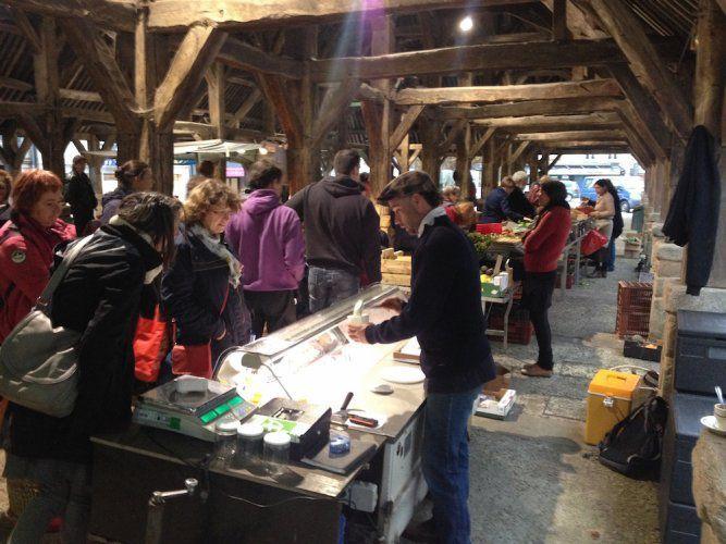 marché bio dans le Morbihan. © Pierre-Emmanuel Prévost/Reporterre