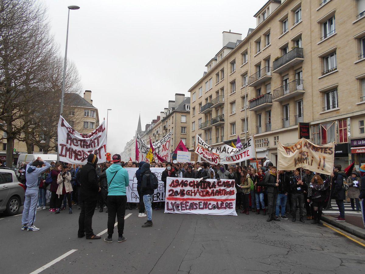12000 déterminé(e)s dans les rues de Caen