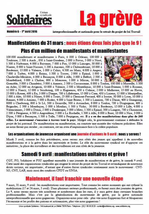 La grève N°6