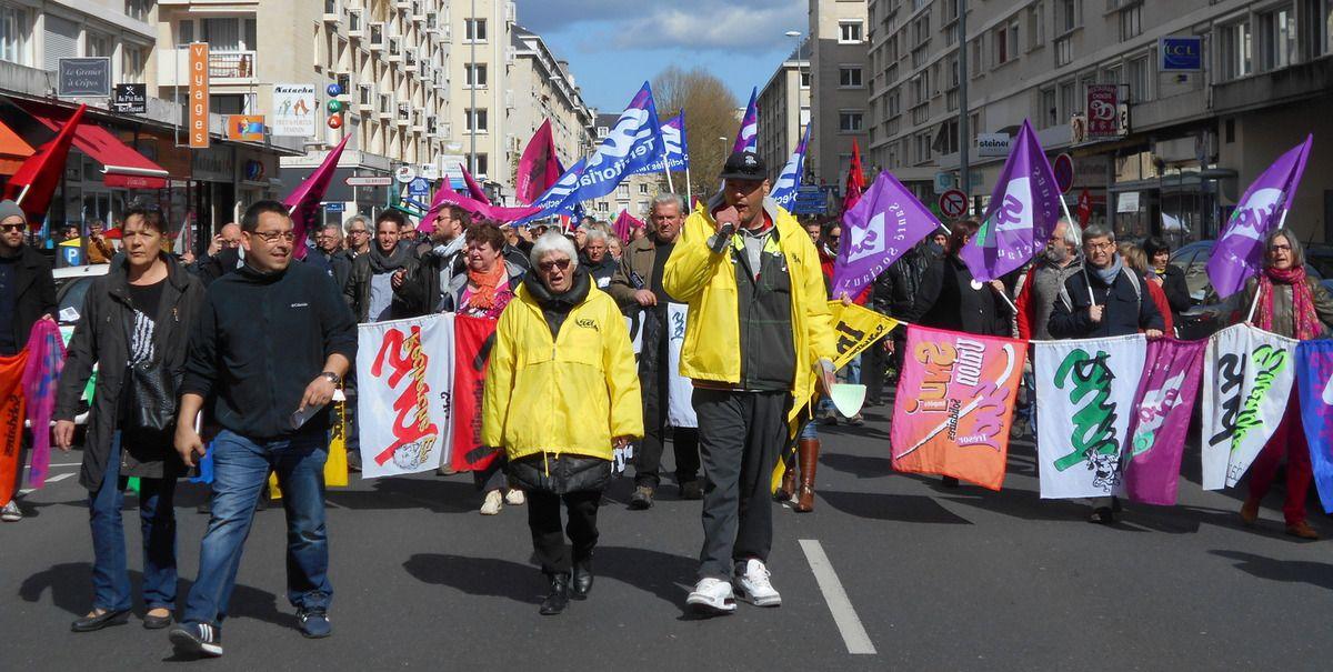 Manifestation contre la loi travail le 28 avril 2016 à Caen
