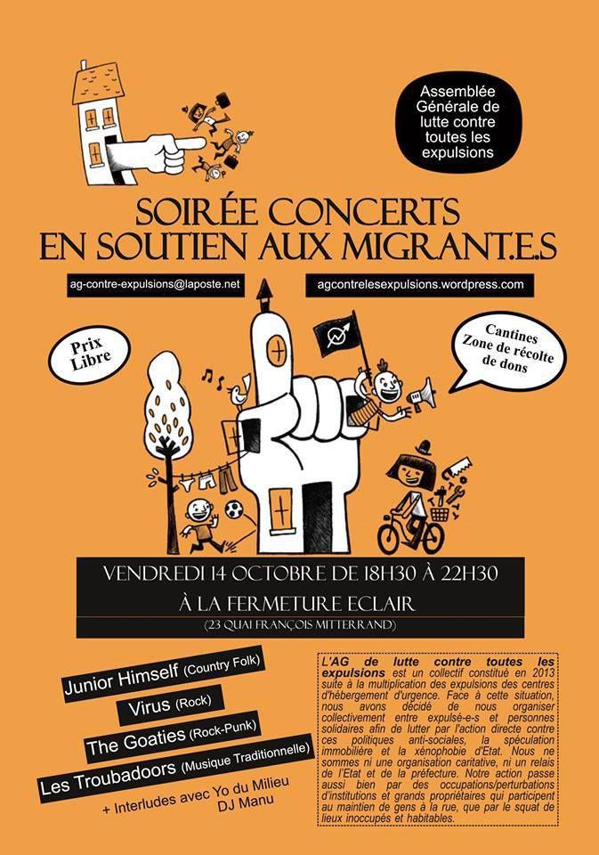Soirée concerts en soutien aux migrant(e)s