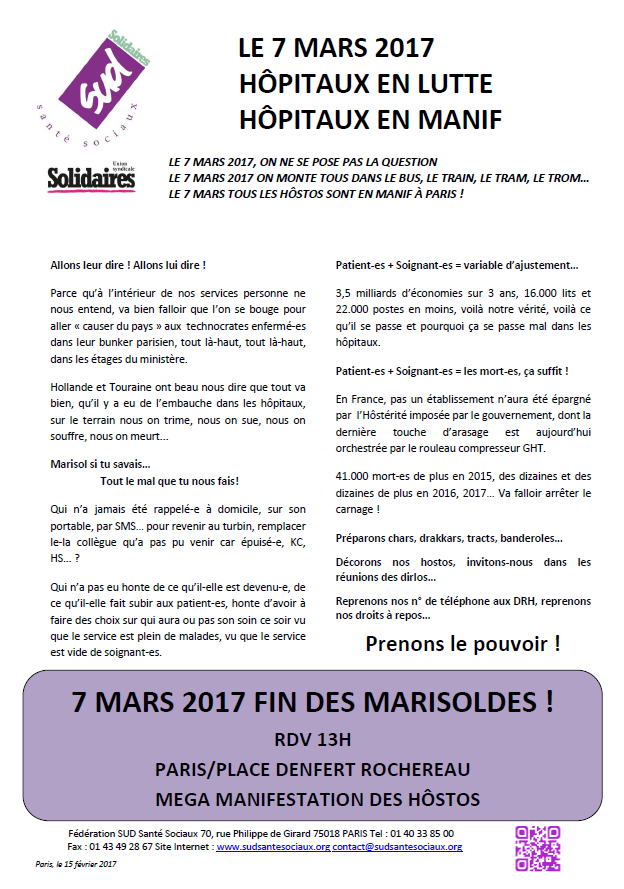 7 mars 2017: Fin des Marisoldes!